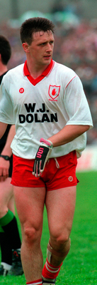 Aidan Morris, who made the switch from Tyrone to Antrim