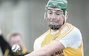 Paul Shiels was on target for Antrim but could not inspire his side to victory