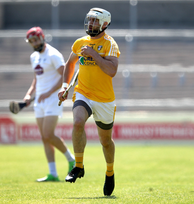 Fired up: Neil McManus is helping to plot Antrim's promotion drive from Division 2A