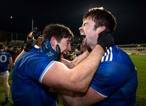 New peak: Thomas Galligan (right) has defied injury to journey from a role as Cavan substitute to join the footballing elite