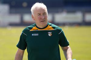 On hold: Antrim boss Lenny Harbinson is keen to see his side win promotion