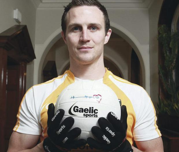 Glove affair: Michael McCann at last night's Gaelic Sports 'Opt for Life' Gaelic gloves launch at City Hall