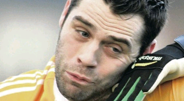 Antrim's Martin Johnson was sent off