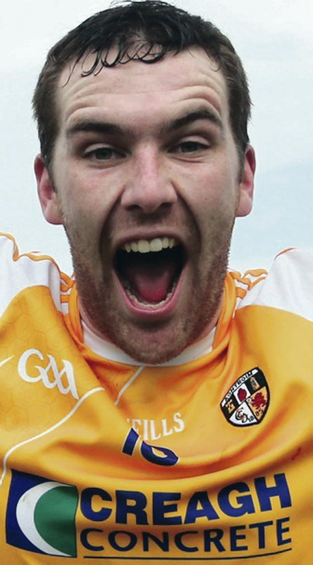 We did it: Antrim's Conor Carson celebrates his team's success