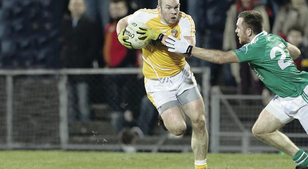 Out of reach: Sean McVeigh believes Antrim can push on from their impressive first half display against Donegal