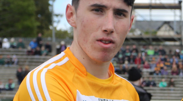 Inspirational: Conor Small was Antrim's driving force