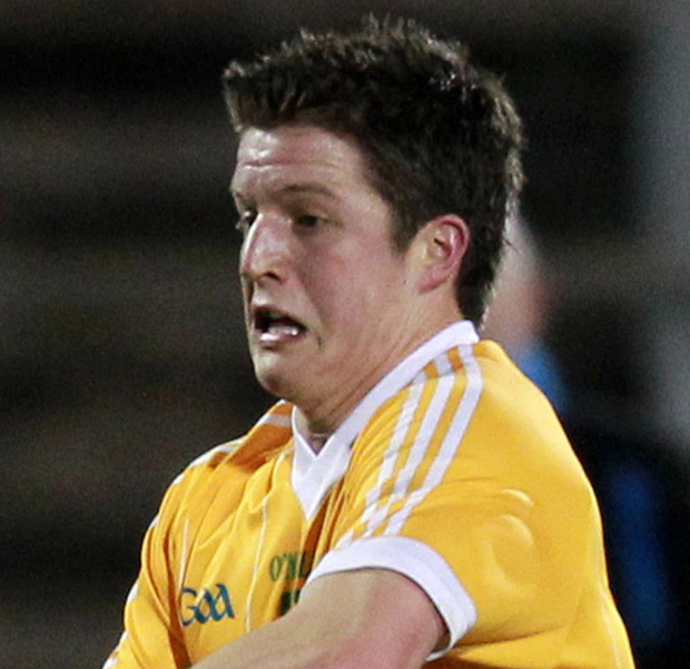 High five: Tomas McCann grabbed five points for Antrim