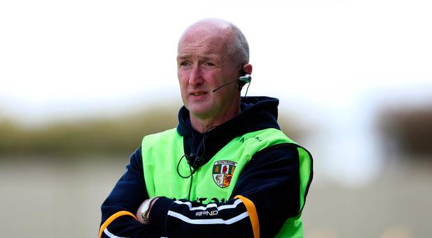 On track: Antrim boss Dominic McKinley faces tough task