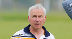 Tough start: Lenny Harbinson's Antrim face an early season test in the Bank of Ireland Dr McKenna Cup today against Monaghan