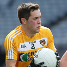 Pointing way: Niall Delargy was on target for Antrim