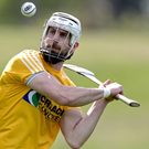 Warning shot: Antrim's long-serving forward Neil McManus