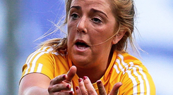 In the points: Antrim's Cathy Carey