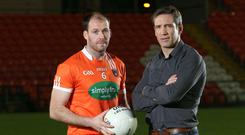 Tough task: Ciaran McKeever sounds a warning to Armagh and Kieran McGeeney (right)