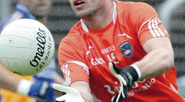 On fire: Eugene McVerry is a hot-shot in the Armagh attack