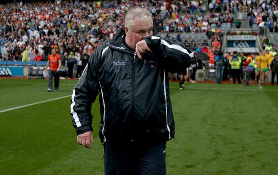 GAA Football All Ireland Senior Championship Quarter-Final 9/8/2014 Armagh Manager Paul Grimley Mandatory Credit ©INPHO/Donall Farmer