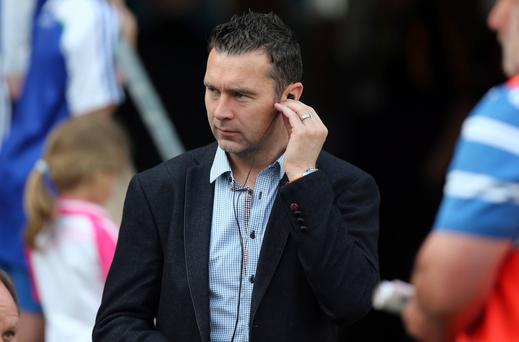 Final job: Crossmaglen joint manager Oisin McConville plotting the downfall of Watty Grahams