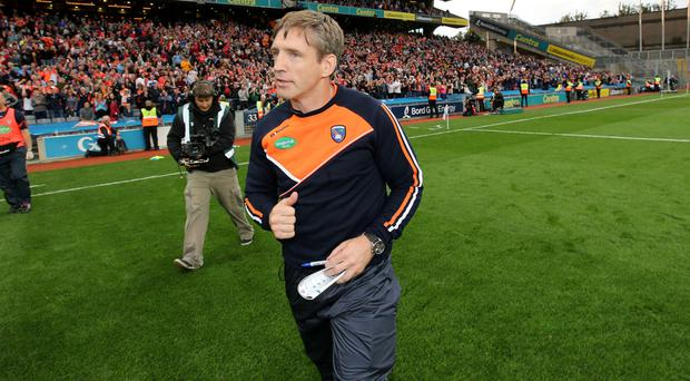 Clear aim: Armagh manager Kieran McGeeney is calling on his men to find their scoring touch