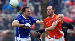 Flashback: Ciaran McKeever in action for Armagh during their last Ulster Championship win in 2014