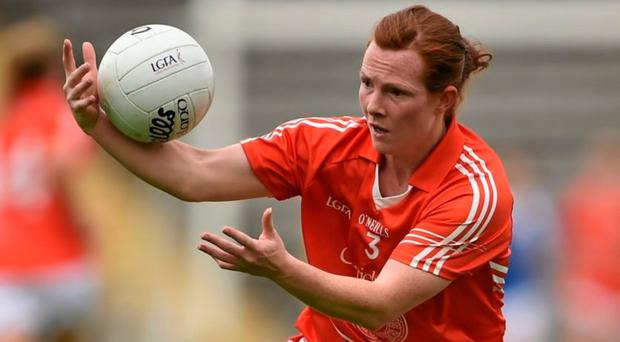 Joy day: Caoimhe Morgan was overwhelmed with Armagh's stunning All-Ireland Championship victory over Cork