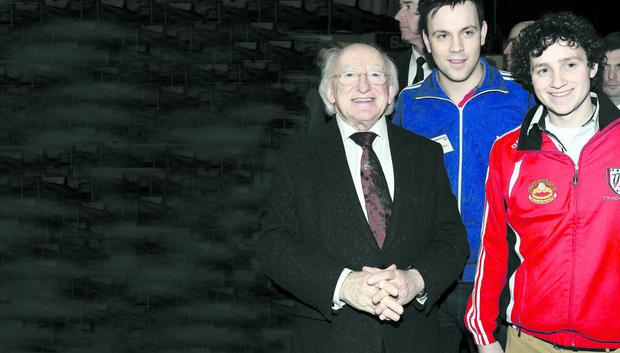 President Michael D. Higgins meets delegates at GAA Congress