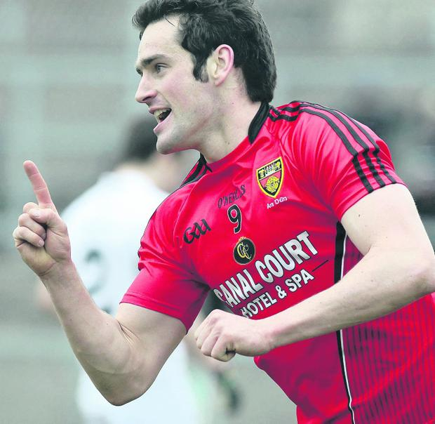 Down's Kevin McKernan celebrates his goal