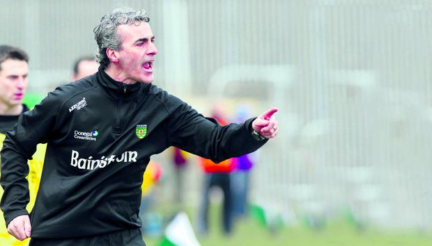 Donegal manager Jim McGuinness is happy for Donegal to be in Division Two
