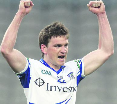 Dessie Mone of Monaghan celebrates at the final whistle