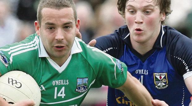 Daniel Kille of Fermanagh (left) could be back on Sunday but the game comes too soon for Gearoid McKiernan