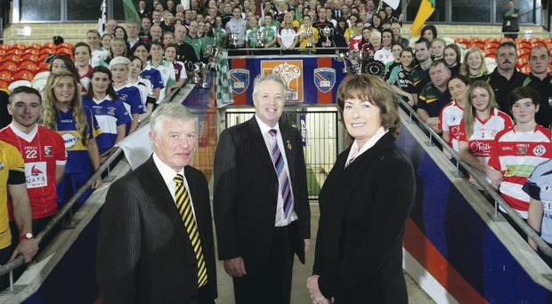 Tough ask: Martin McAviney, President of Ulster Ladies Gaelic Joe Lagan and Camogie Ulster Chairperson Kathleen Woods