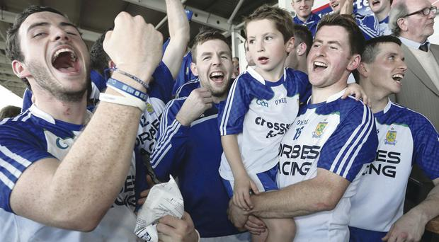 We are the champions: Ballinderry celebrate Derry title triumph over Ballinascreen