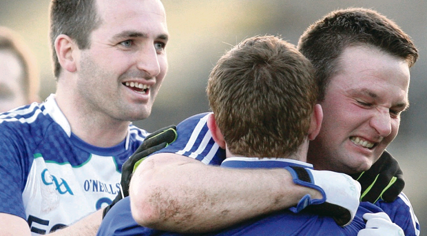 Darren Conway of Ballinderry celebrates at the end of the game