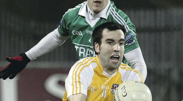 Top of the list: Kevin Niblock has been rated as one of the finest players to pull on the Antrim shirt