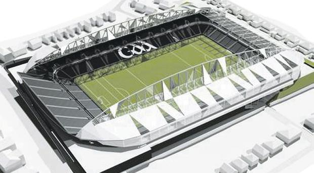 What the newly refurbished Casement Park is projected to look like when completed