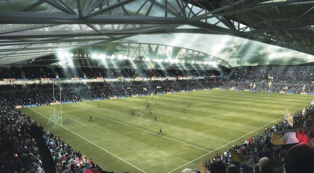 Scuppered: Plans for a redeveloped Casement Park stadium have received a serious knock back