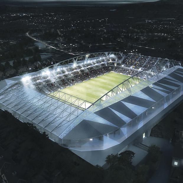 A glimpse of what the redeveloped Casement Park stadium would look like