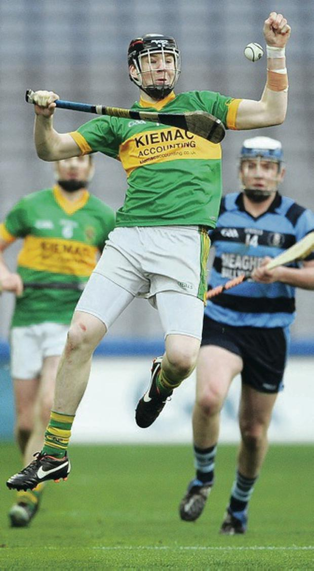 In flight: Kevin Rice of Creggan Kickhams