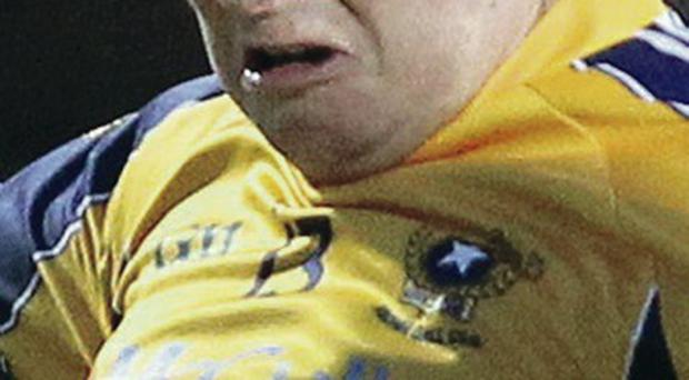 On the spot: Antrim's Conor McGourty missed a penalty