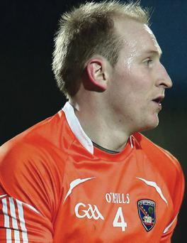 Out: Gary McCooey features on lengthy Armagh injured list
