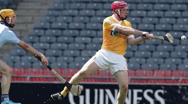 PJ O'Connell bagged a hat-trick but it wasn't enough to spare Antrim defeat against Offaly