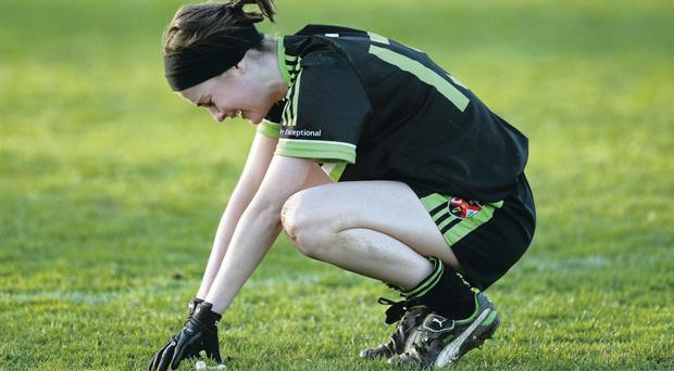 Aine Canavan, daughter of Tyrone legend Peter Canavan, after QUB's cup final defeat
