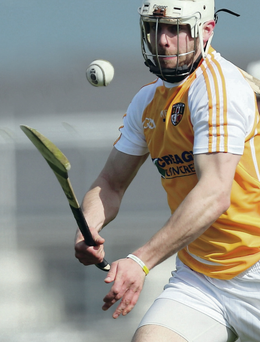 Leading the way: Antrim's Neil McManus