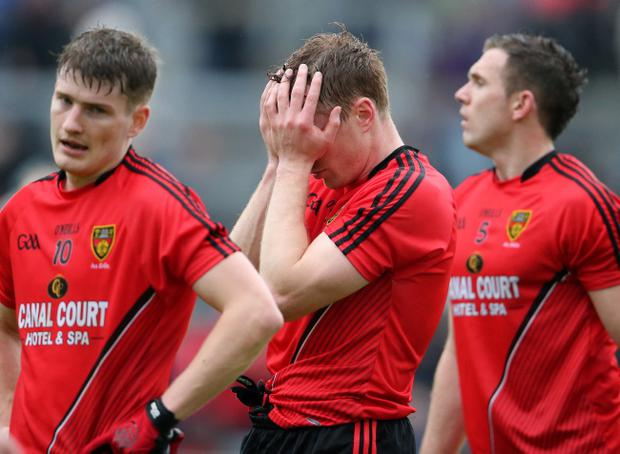 Hard luck story: Dejected Down ace Brendan McArdle