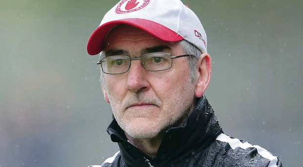 Staying put: Mickey Harte has led the Red Hands to triple All-Ireland success since 2002