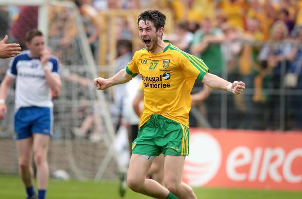Donegal's Ryan McHugh celebrates the final whistle
