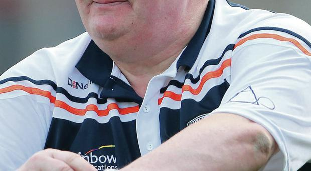 Testing time: Armagh manger Paul Grimley is expecting a backlash from Meath