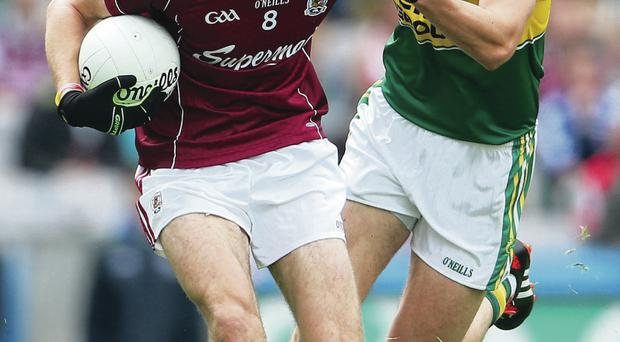 Forward thinking: Kerry's Anthony Maher and Fiontan O Curraoin battle for possession