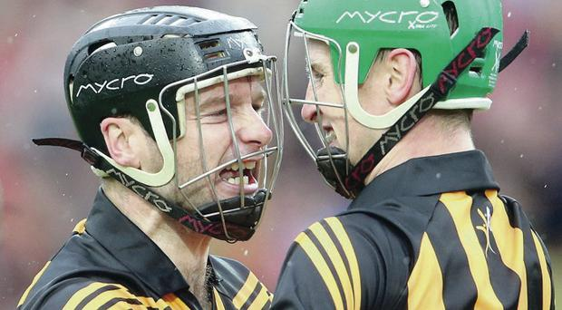 We've done it: Kilkenny's Joey Holden and JJ Delaney celebrate
