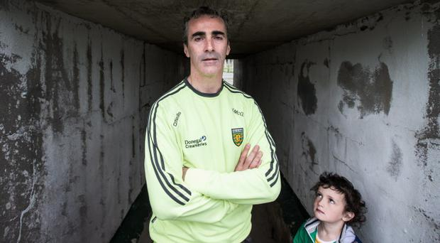 Something special: Jim McGuinness is flourishing in his role at Donegal and is looked up to by many — including son Jim jr