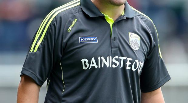 Happy times: Kerry manager Eamonn Fitzmaurice