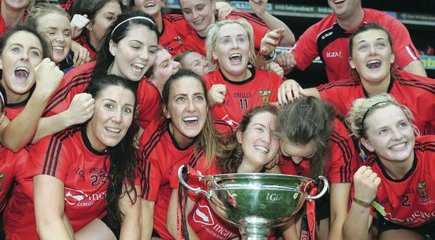 Intermediate winners: The Down ladies team with the cup